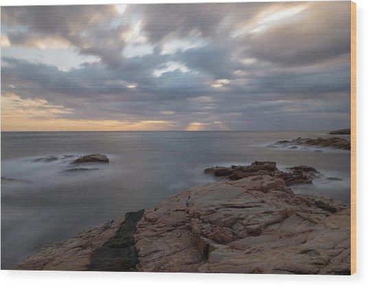 Sunrise On The Costa Brava Wood Print