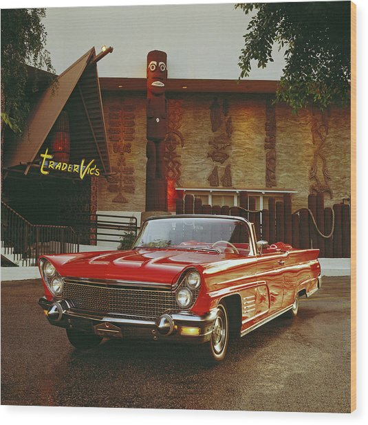 1960 Lincoln Continental Mark V Wood Print by Car Culture