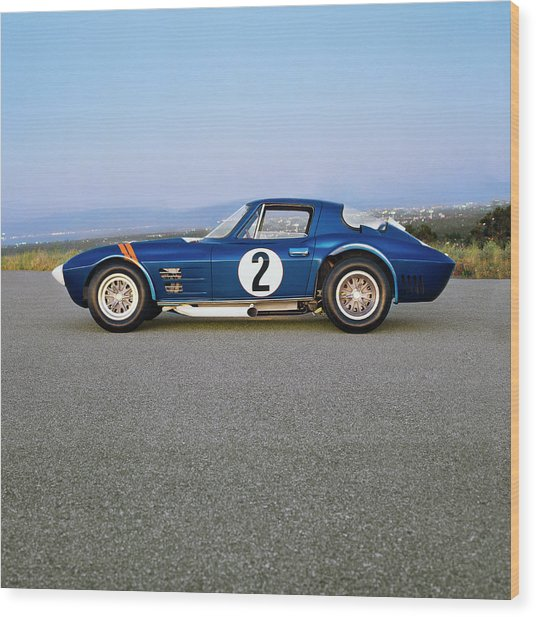 1963 Chevrolet Corvette Grand Sport Wood Print by Car Culture