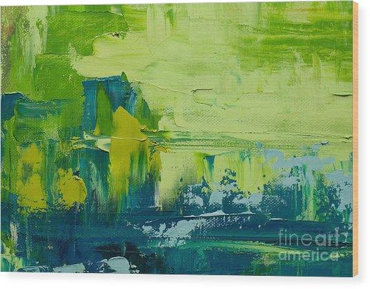 Abstract Art  Background. Oil Painting Wood Print