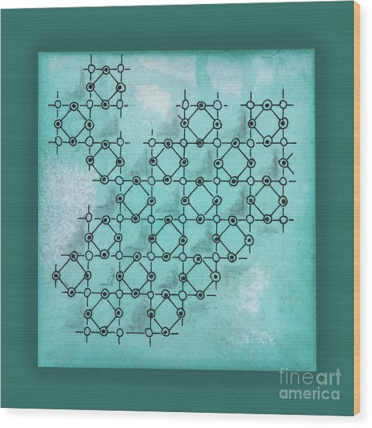 Abstract Biological Illustration Wood Print