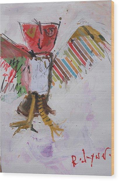 Abstract Owl Art Wood Print