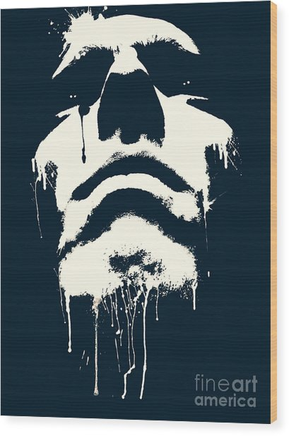 Abstract Portrait Wood Print