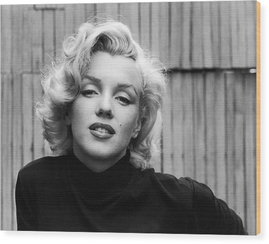 Actress Marilyn Monroe Wood Print