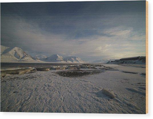 Adventfjorden Wood Print