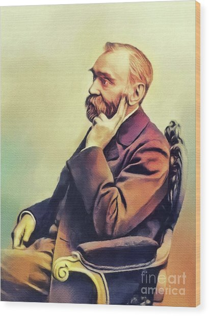 Alfred Nobel, Famous Scientist Wood Print