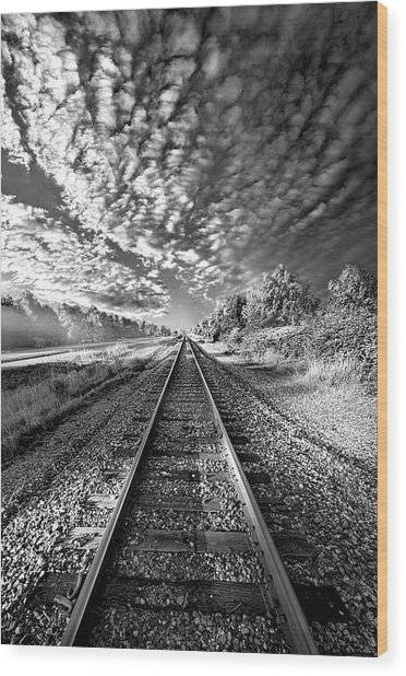 Wood Print featuring the photograph All The Way Home by Phil Koch