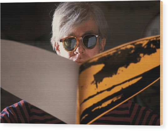 Andy Warhol In New York, United States Wood Print by Herve Gloaguen