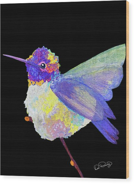 Wood Print featuring the photograph Anna's Hummingbird IIi by Dee Browning