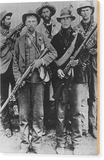 Armed Afrikaners Wood Print by Hulton Archive