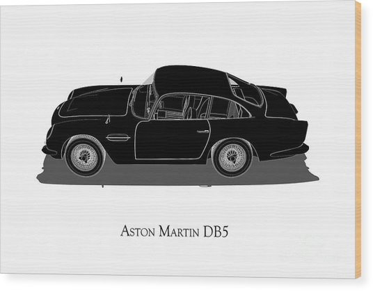 Aston Martin Db5 - Side View Wood Print