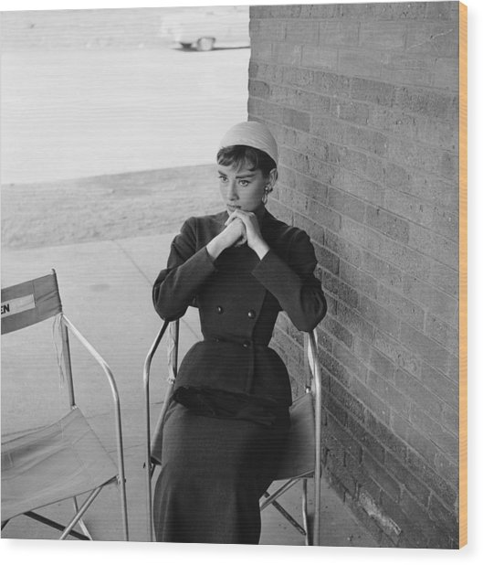 Audrey Hepburn Wood Print by Hulton Archive