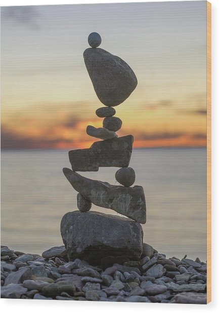 Balancing Art #34 Wood Print