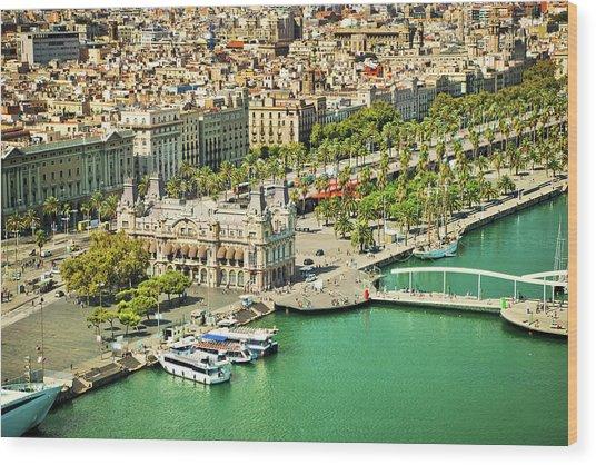 Barcelona, Spain Wood Print