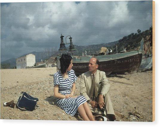 Barcelona,spain Wood Print by Michael Ochs Archives