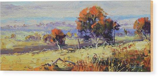 Bathurst Landscape Wood Print