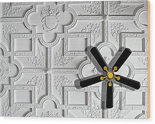 Black And White In Color Wood Print