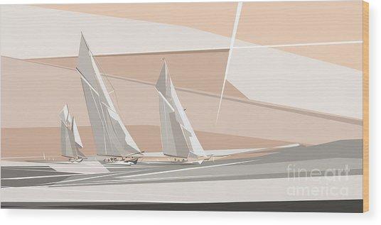 C-class Yachts  Wood Print