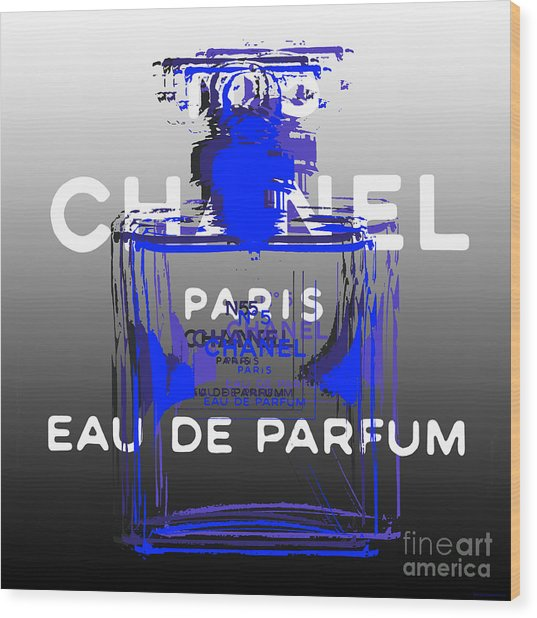 Chanel No 5 - Pop Art Wood Print