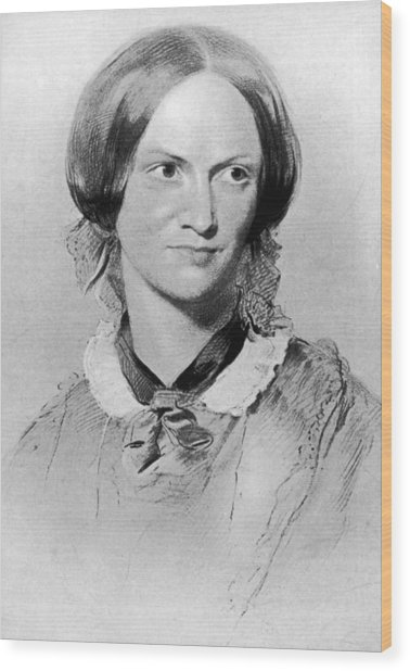 Charlotte Bronte Wood Print by Hulton Archive