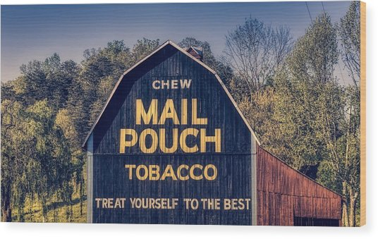 Chew Mail Pouch Barn Wood Print
