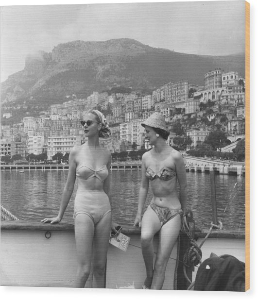 Chic Bikini Wood Print by Bert Hardy