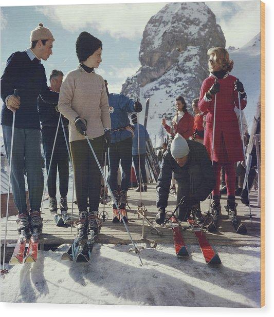 Cortina Dampezzo Wood Print by Slim Aarons