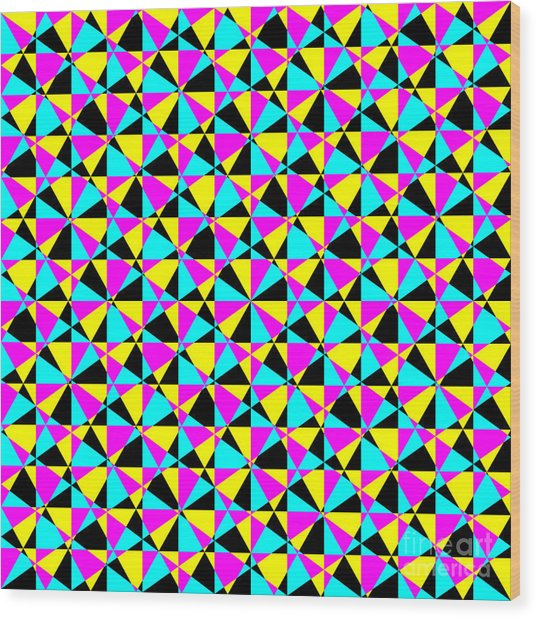 Crazy Psychedelic Art In Chaotic Visual Color And Shapes - Efg22 Wood Print