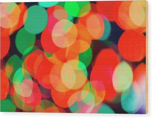 Defocused Lights Wood Print by Tetra Images