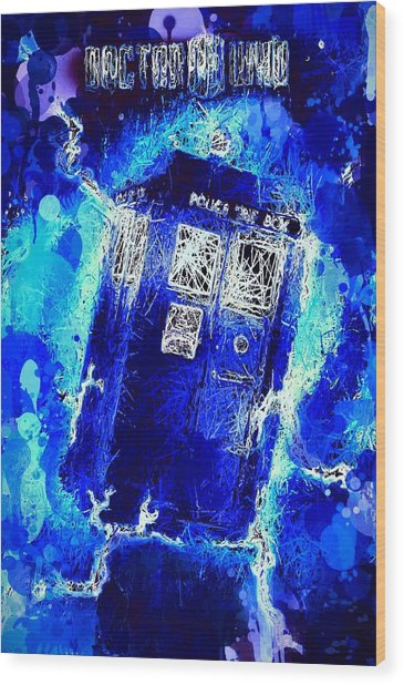 Doctor Who Tardis Wood Print