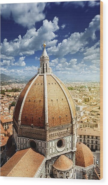 Duomo In Florence Wood Print by Da-kuk