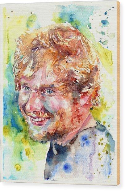 Ed Sheeran Wood Print