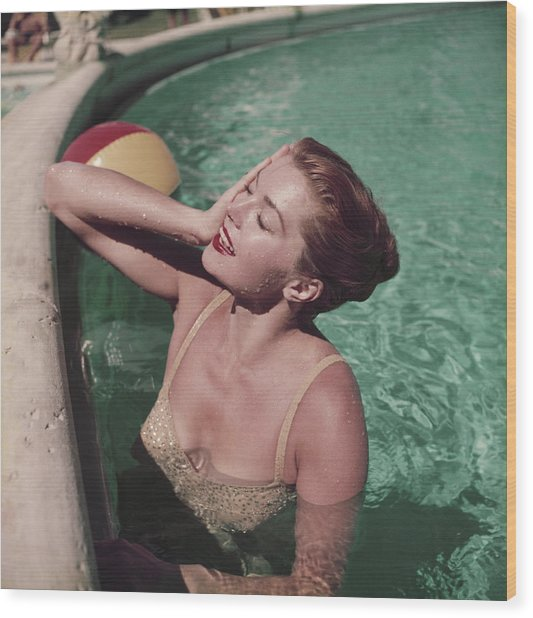 Esther Williams Wood Print