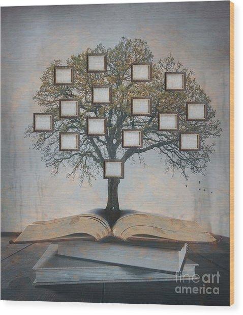 Family Tree, Genealogy Wood Print