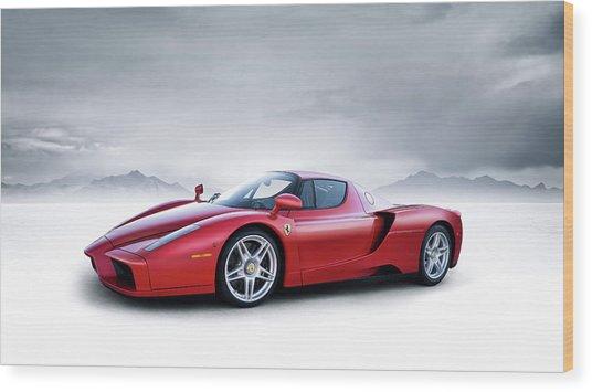 Ferrari Enzo Wood Print