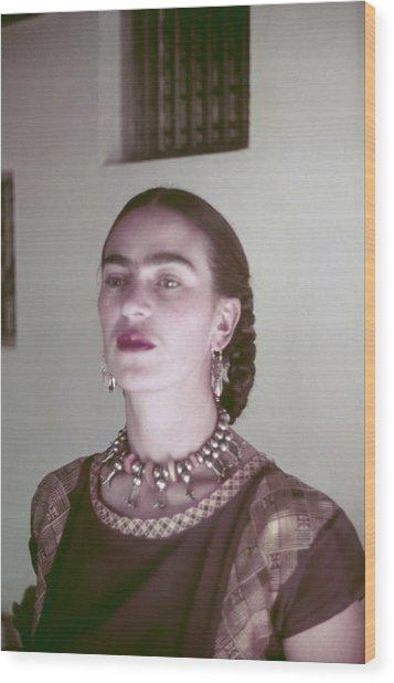 Frida Kahlo Wood Print by Michael Ochs Archives
