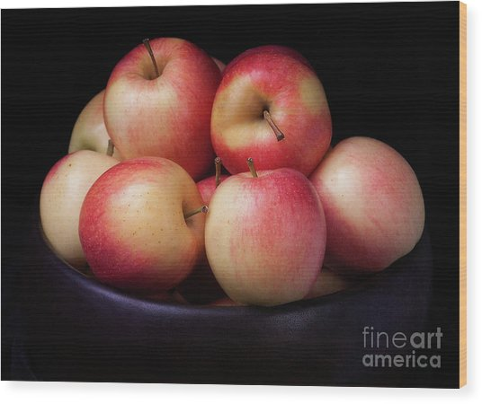 Gala Apples Wood Print