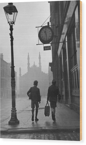 Glasgow Boys Wood Print by Bert Hardy