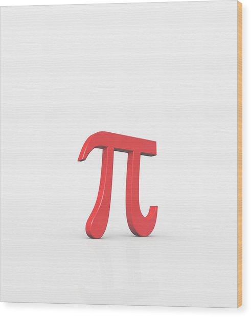 Greek Letter Pi, Lower Case Wood Print by David Parker