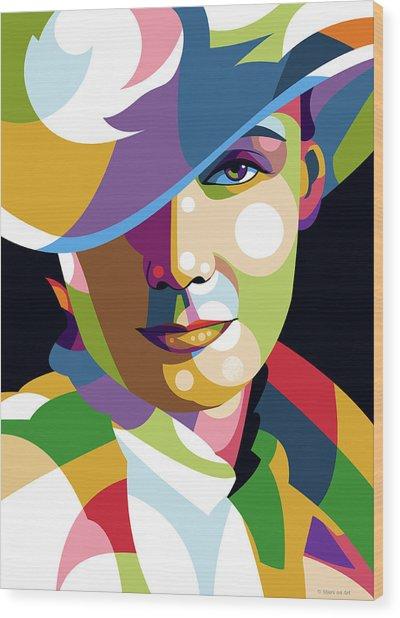 Greta Garbo Wood Print