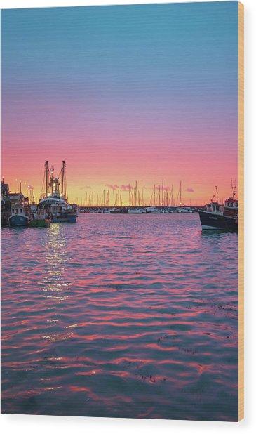 Harbour Lights Wood Print