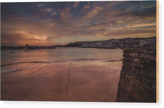 Harbour Sunset - St Ives Cornwall Wood Print