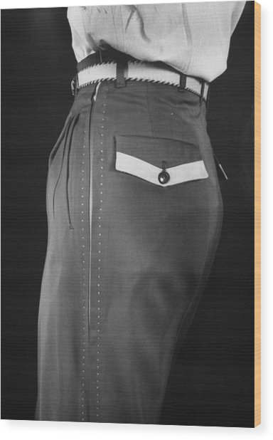 High Style In Mens Fashions, Extreme St Wood Print by Nina Leen