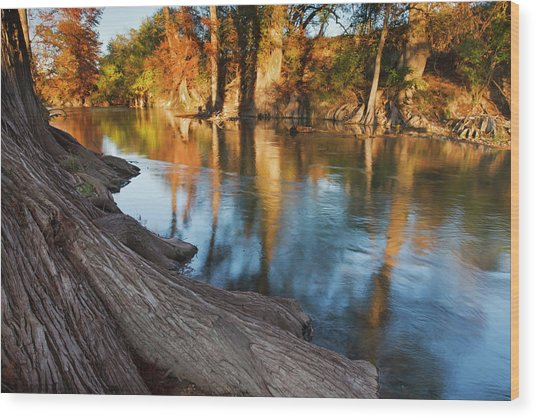 Hill Country At Autumn, Guadalupe Wood Print