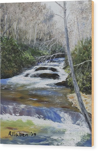 Horsepasture River Wood Print
