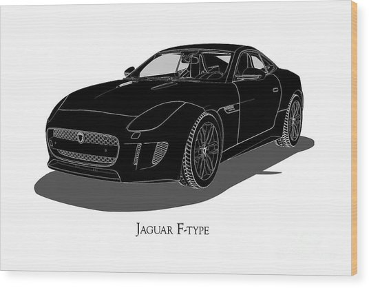 Jaguar F-type - Front View Wood Print