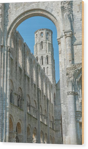 Jumieges Abbey, Jumieges, Normandy Wood Print by Lisa S. Engelbrecht
