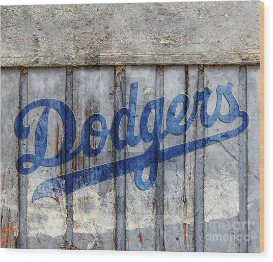 La Dodgers Rustic Wood Print