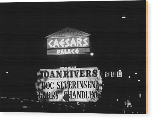 Las Vegas 1984 Bw #10 Wood Print