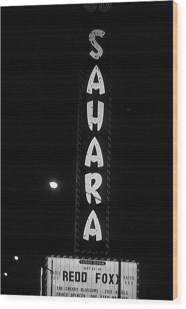 Las Vegas 1984 Bw #14 Wood Print